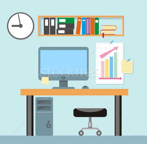 Interior office room.Vector illustration for design Stock photo © robuart