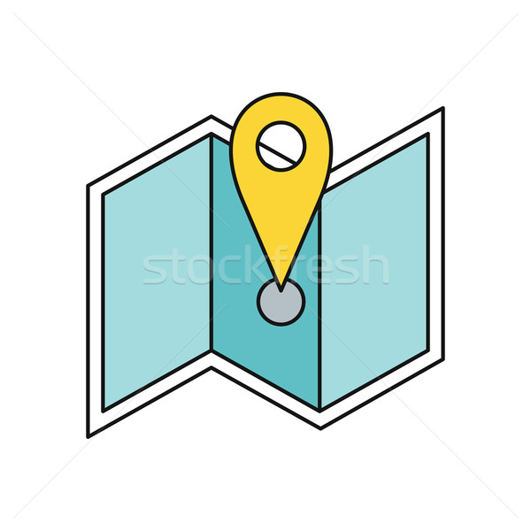 Delivery Map Location Pin Design Flat Stock photo © robuart