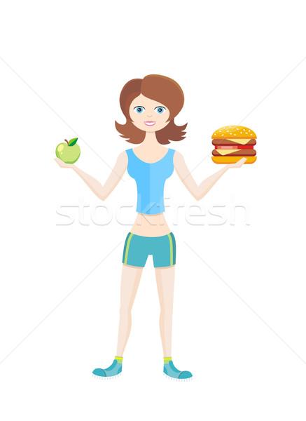 Esportes dieta saudável maneira vida vida saudável Foto stock © robuart