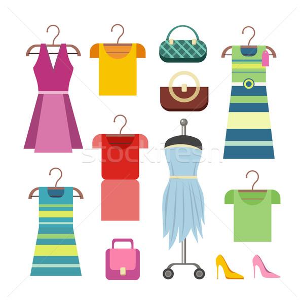 Foto stock: Conjunto · mulheres · roupa · elementos · senhoras