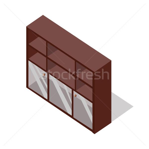 Zdjęcia stock: Ministerstwo · spraw · wewnętrznych · meble · izometryczny · projekcja · rack · szkła