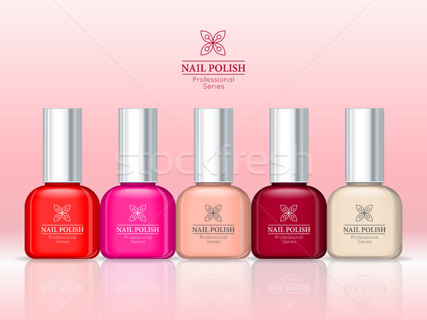 Nail Polish Professional Series. Women accessories Stock photo © robuart