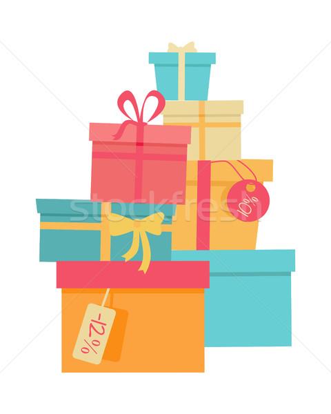 Stockfoto: Kleurrijk · groot · berg · geschenken