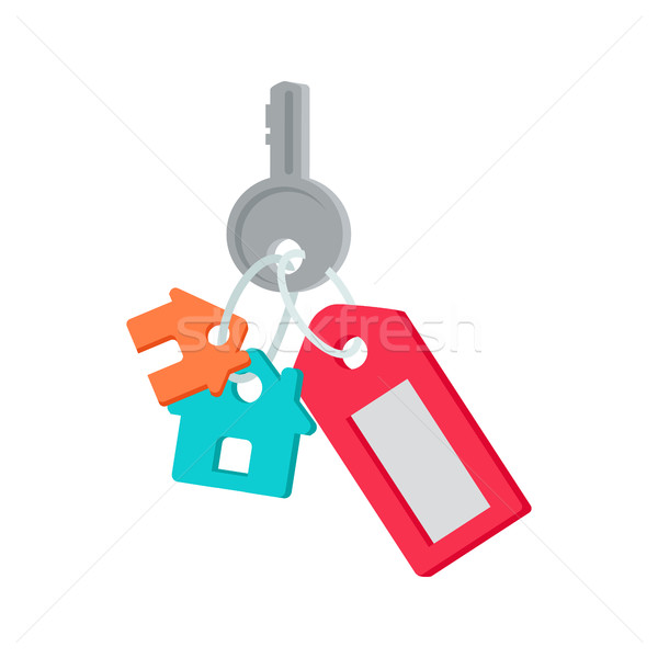 Key from House Vector Illustration in Flat Design. Stock photo © robuart
