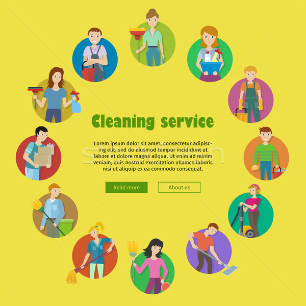 Cleaning Service Icon Set Stock photo © robuart