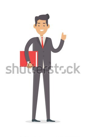 Office worker. Rich Man in Expensive Suit Stock photo © robuart