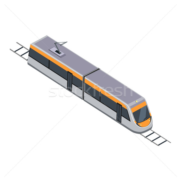 Subway Train. High Speed Inter-City Commuter Stock photo © robuart