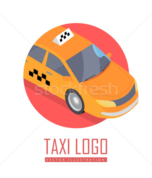 Taxi auto vector icon isometrische projectie icon Stockfoto © robuart