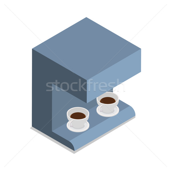Automatyczny ekspres do kawy dwa kawy odizolowany Zdjęcia stock © robuart