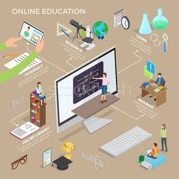 Set of Online Education Hand Drawn Pattern Art Stock photo © robuart