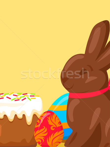 Easter Festive Concept with Traditional Meals Stock photo © robuart