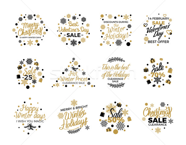 Christmas and Valentine's Sale Banner Templates Stock photo © robuart