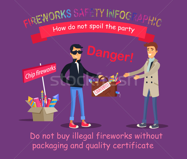 Fireworks Safety Infographic. Buying Illegal Thing Stock photo © robuart