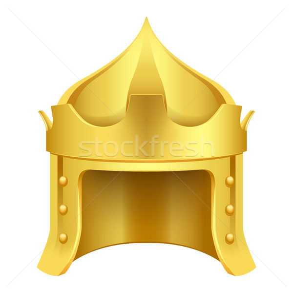 Cartoon Gold King Crown Isolated Illustration Stock photo © robuart
