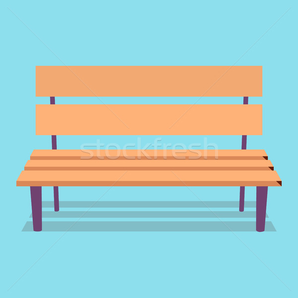 Wooden Bench with Purple Legs on Blue Background Stock photo © robuart