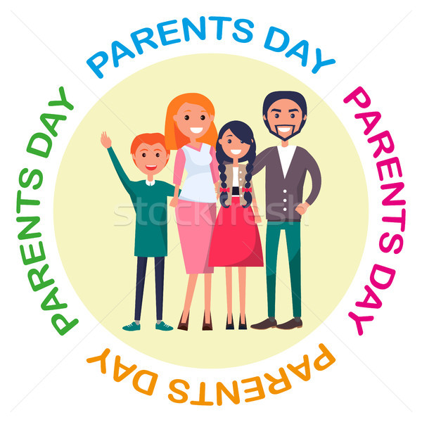 ポスター 献身的な 両親 日 お祝い 家族 ストックフォト © robuart