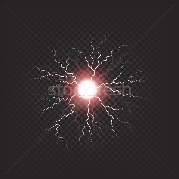 Kleurrijk elektrische vuurbol geïsoleerd illustratie Stockfoto © robuart