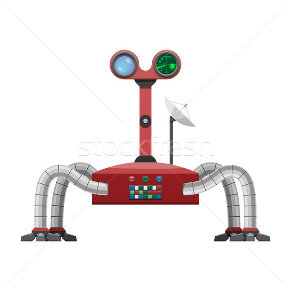 Arachnid Robot with Radar and Powerful Satellite Stock photo © robuart