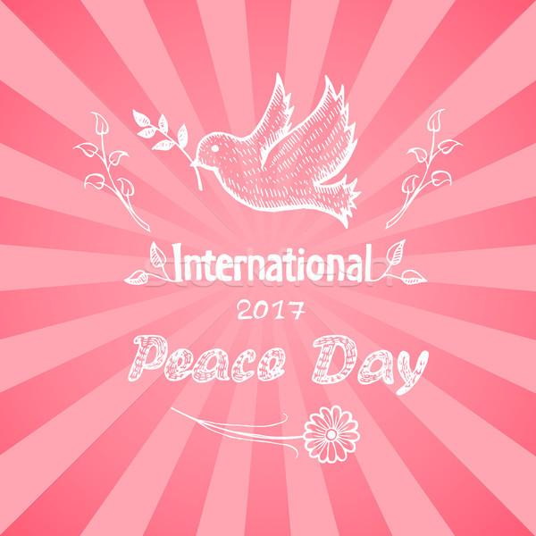 International Peace Day Vector Illustration Logo Stock photo © robuart
