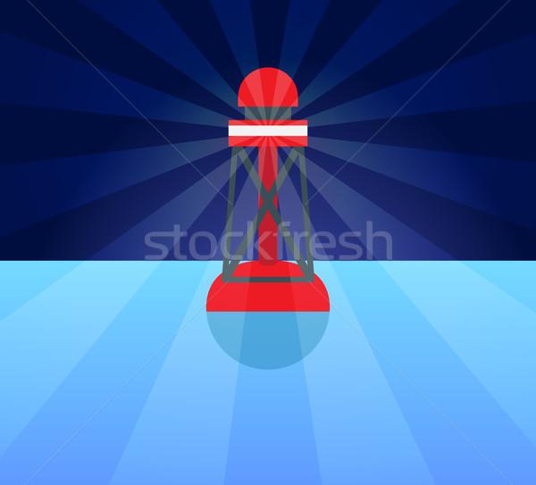 Vermelho plástico bóia isqueiro azul água Foto stock © robuart