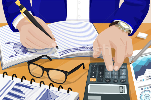 Businessman Solving Problems Vector Illustration Stock photo © robuart