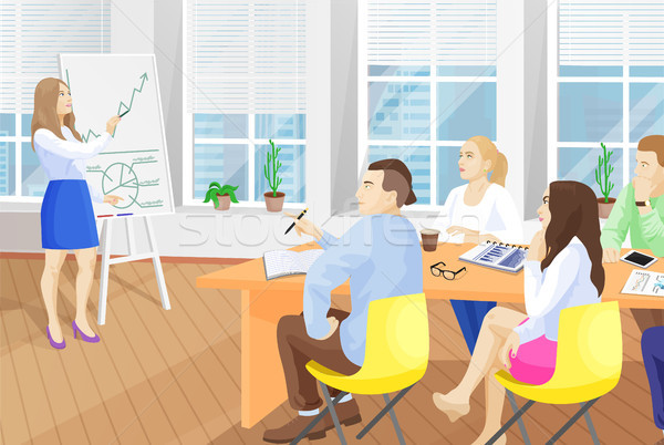 Business Seminar in Office Vector Illustration Stock photo © robuart
