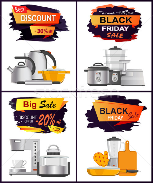 Black Friday Best Discount Vector Illustration Stock photo © robuart
