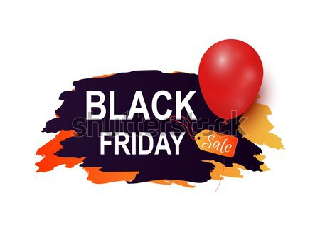 Black Friday Sale Inscription Color Brush Strokes Stock photo © robuart