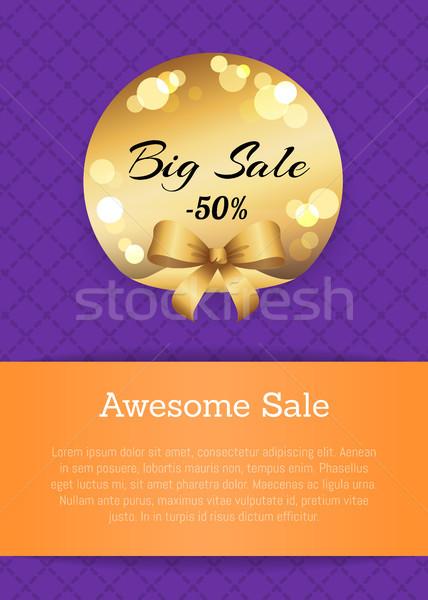 Klassz vásár 50 el arany címke Stock fotó © robuart