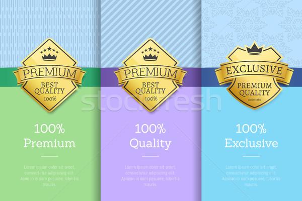 100 exclusief premie kwaliteit posters Stockfoto © robuart