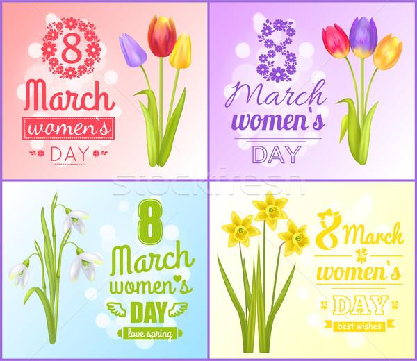 Женский день плакатов лучший Сток-фото © robuart