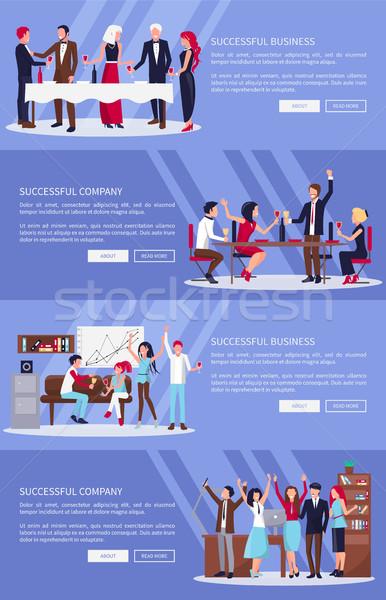 Successful Business, Company Vector Illustration Stock photo © robuart