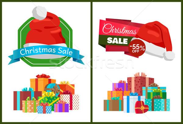 Karácsony vásár el promóciós plakátok hatalmas Stock fotó © robuart