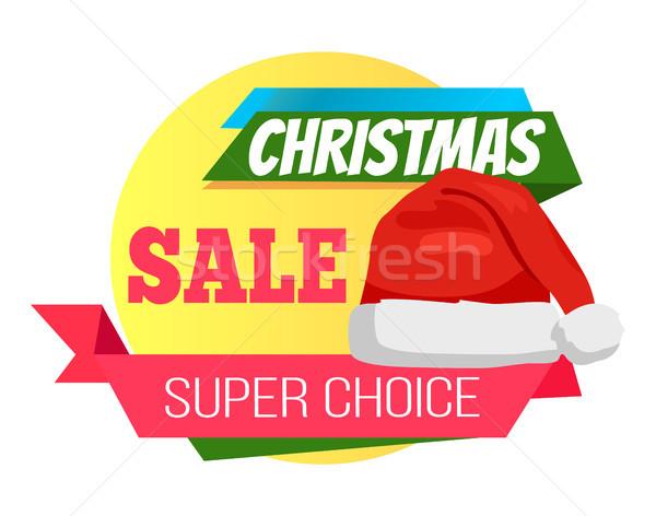Szuper választás karácsony vásár promo mikulás Stock fotó © robuart