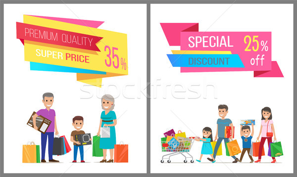Premium Quality and Special Discount Sale Banner Stock photo © robuart