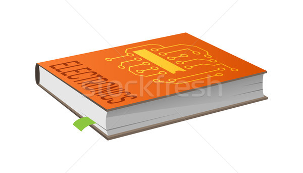 Book on Electronics with Bookmark Vector Illustration Stock photo © robuart