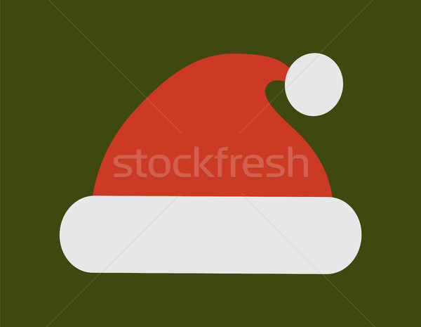 Santa Claus Red Hat with White Pompon Vector Icon Stock photo © robuart
