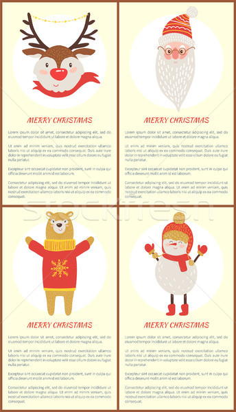 Merry Christmas Banners Vector Illustration Stock photo © robuart