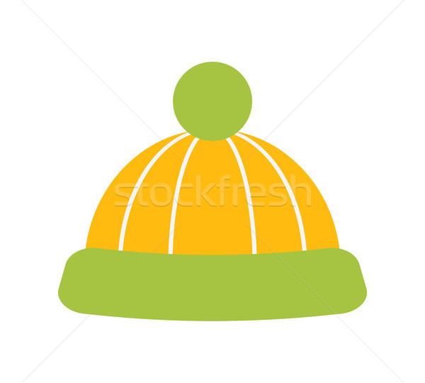 Hoed Geel groene kleur kleuren Stockfoto © robuart