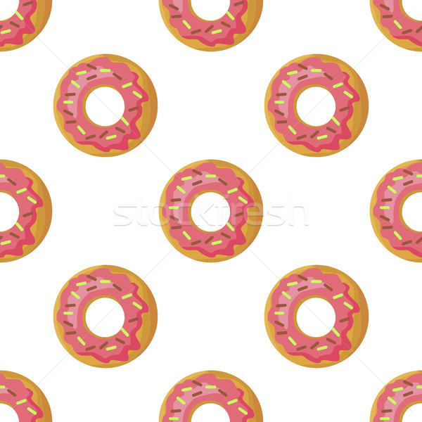 Donuts vector chocolade suiker icing Stockfoto © robuart