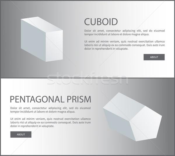 Prisma vettore 3D web manifesti Foto d'archivio © robuart