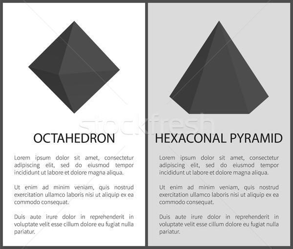 Octahedron Hexagonal Pyramid Vector Illustrations Stock photo © robuart