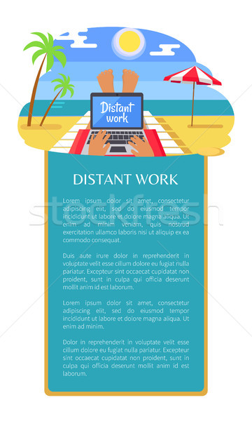 Afgelegen werk brochure poster freelancer benen Stockfoto © robuart