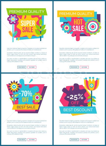 Premium Quality Super Sale Labels on Web Posters Stock photo © robuart