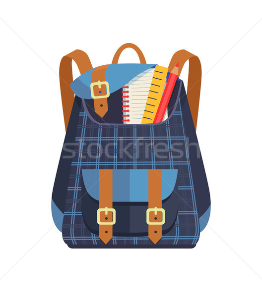 Backpack for Kid with School Stationery Accessory Stock photo © robuart