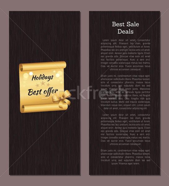 Best Sale Deal Discount Voucher Holiday Best Offer Stock photo © robuart