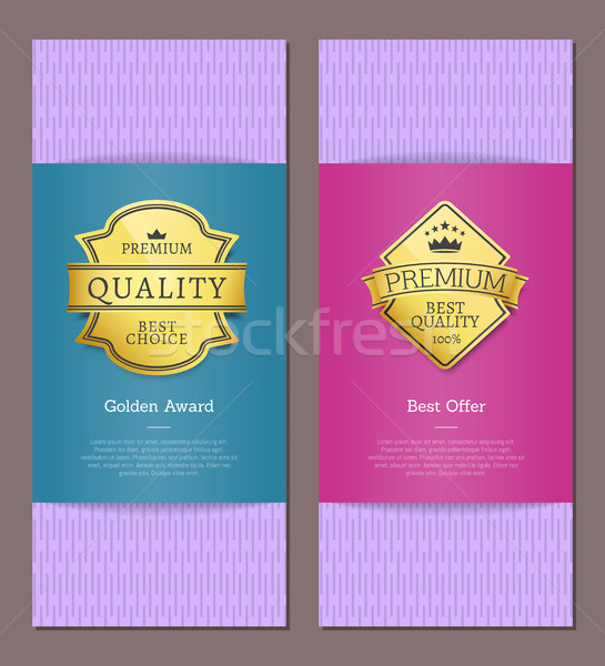 Best Award Golden Offer Premium Quality Labels Stock photo © robuart