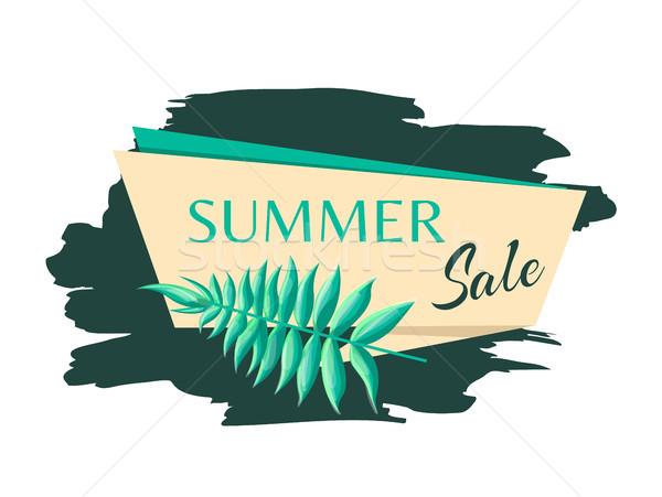 Nyár vásár embléma egzotikus fa levél Stock fotó © robuart