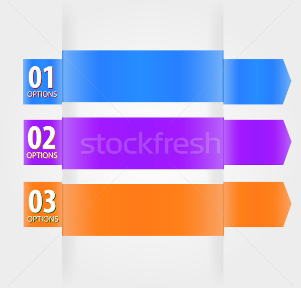 Modern Design template with numbered banners Stock photo © robuart