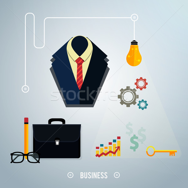 Stock photo: Business concept. Tools, interier, online, documents